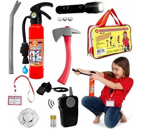Kit De Juego De Rol Fireman Toys Ideal Para Disfraz De Bombe