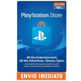 Cartão Psn Card $60 Dólares Playstation Network Store Usa