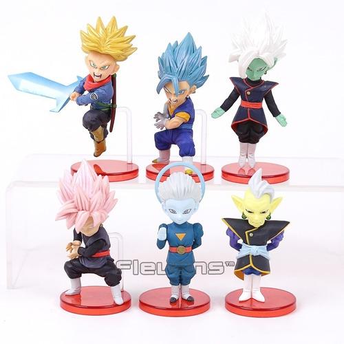 Goku Black Trunks Dragon Ball Colección X6 Figuras Wcf + Obs