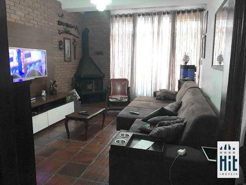 Sobrado Com 3 Dormitórios À Venda, 180 M² Por R$ 1.950.000,00 - Chácara Tatuapé - São Paulo/sp - So0569