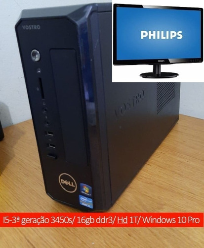 Monitor + Pc Desktop Dell 270s I5 3ªg 3470 3,2ghz 16gb Hd1t