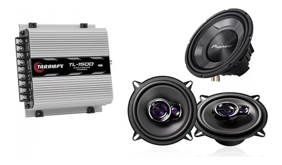 Potência Taramps Tl1500 + Falantes Pioneer 5 + Sub Tsw3060br