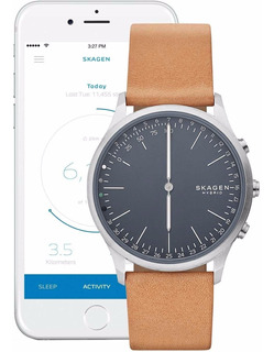Relógio Skagen Jorn Hybrid Smartwatch Brown Leather Skt1200