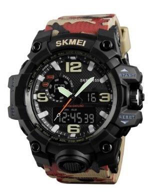 Relógio Masculino Skmei 1155 Camuflado Na Caixa Com Nf