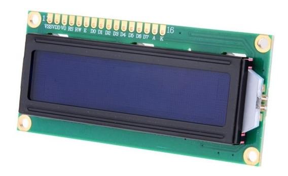 3 X Display Lcd 16x02 16x2 1602 Fundo Azul Arduino Pic