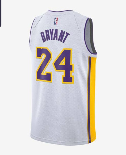 Jersey Nike Nba Lakers Kobe Bryant 24 Blanca Statement
