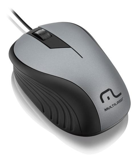 Mouse Emborrachado Mo225 Com Fio Multilaser