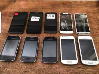 Lote 10 Celulares No Estado Motorola E Samsung