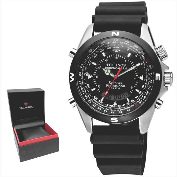 Relógio Technos Skydiver Masculino Original E Nf T20561/8p