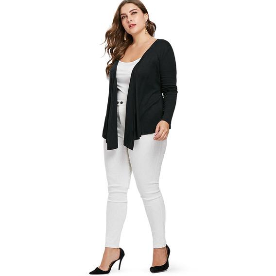 Casaco Plus Size Com Cinto