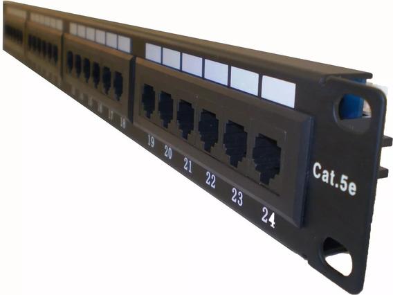 Patchera (patch Panel) Panduit Cat5e 24 Bocas Completa Con Jack