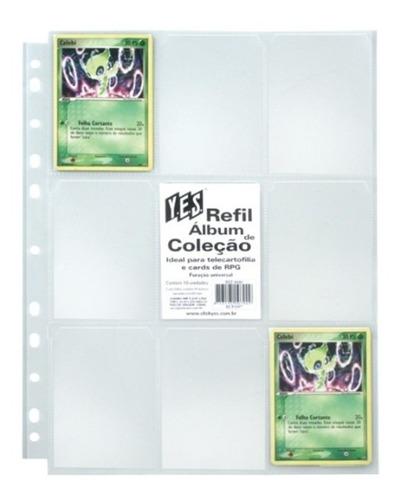 Imagem 1 de 5 de 10 Folhas Para Álbum Pasta Fichário Yes - 9 Bolsos