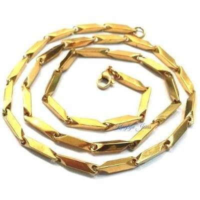Corrente Cordao Masculino Aço Inox Dourado