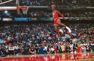 Cuadro Lienzo Michael Jordan Slam Dunk Contest 1988 100x65