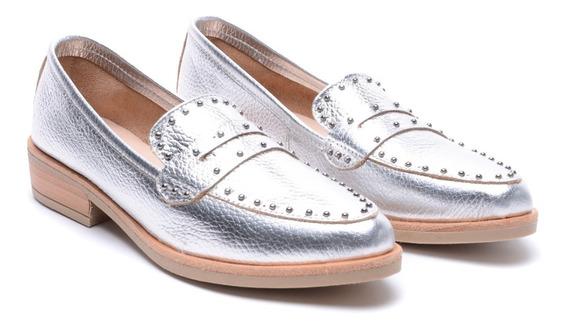 Zapatos Mujer Bajos Mocasines Cuero Moda Heben Calzados