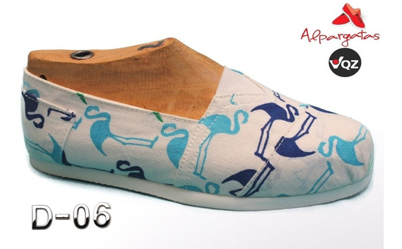 Alpargatas 33 Al 39 Reforzadas/estampadas/flamencos/letras