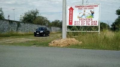 Terreno En Venta Carretera Cadereyta - Allende San Isidro