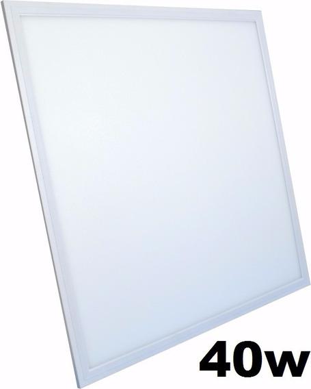 5 Plafon Led Embutir Quadrado 50x50 Branco Quente 40w
