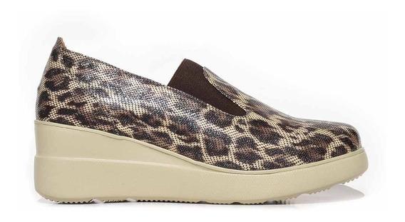 Zapato Cuero Mujer Briganti Taco Chino Plataforma Mccz33030