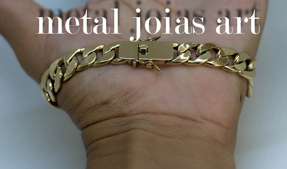 Pulseira Grumet 13gr 7,2mm 21cm Ouro 18k Nota Fiscal