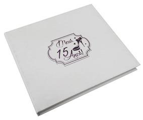 Caixa Rígida Com Álbum 15 Anos Branco