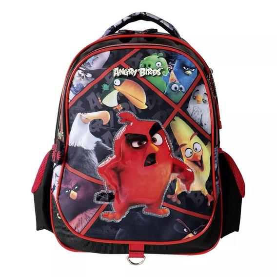 Mochila Angry Birds Escolar De Costas Ref Abm702303