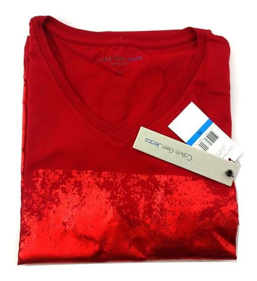 Camisa Ck Original Masculina Vermelha Original