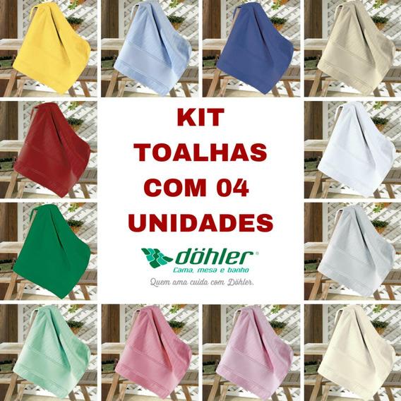 Toalha Banho Velour Artesanalle Dohler 04 Unid. 70x140cm