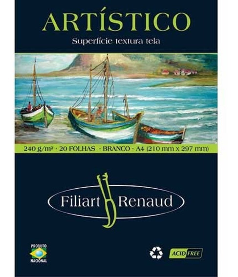 Bloco Artist Renaud A4 20f 240g 1074 Filiperson