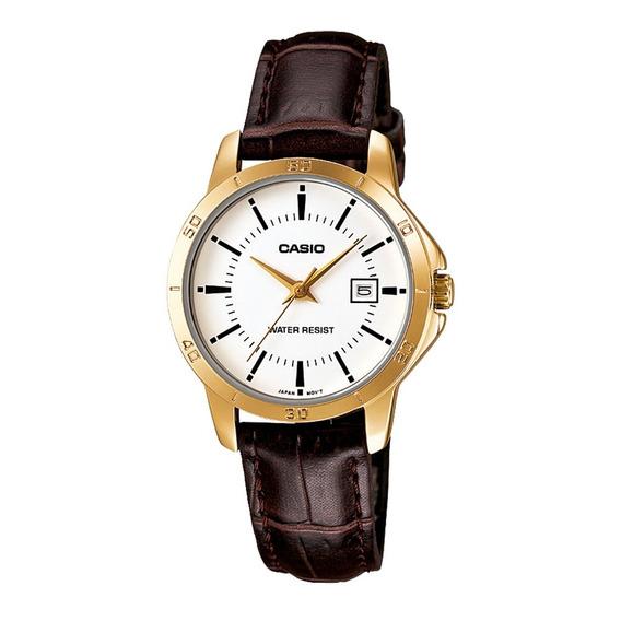 Relógio Analógico Feminino Casio Ltp-v004gl-7audf