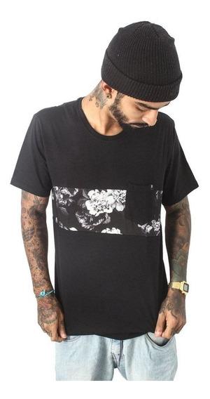 Camiseta Recorte Black Flowers