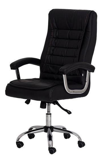 Cadeira De Escritorio Presidente Relax Giratoria Com Molas