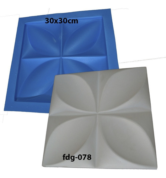 Forma De Gesso 3d Plastico Com Manta De Borracha Fdg-078