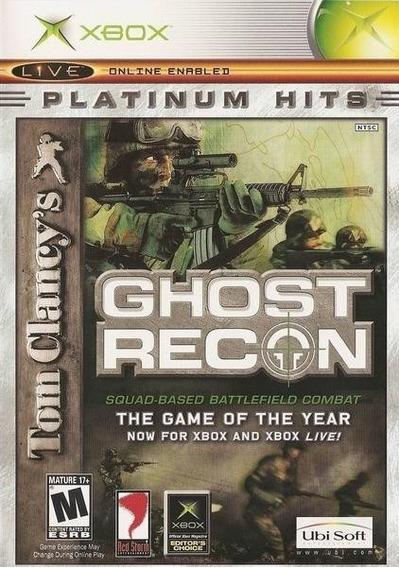Jogo Tom Clancys Ghost Recon Xbox Clássico Física Frete Grát