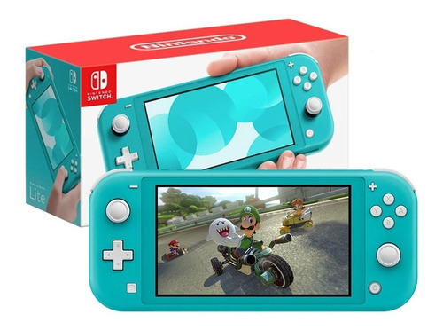 Nintendo Switch Lite Turquesa + Mario Rabbids + Case Rigido