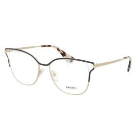 09348b1d9 Óculos De Grau Prada Pr54uv Qe3-1o1 53x17 145
