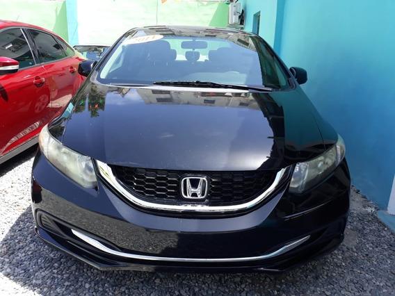 Honda Civic Negro Lx 2013 Americano Recien Llegado