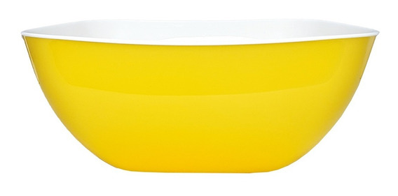 Ensaladera Bowl Bols Cuadrado Plástico 27cm Colores