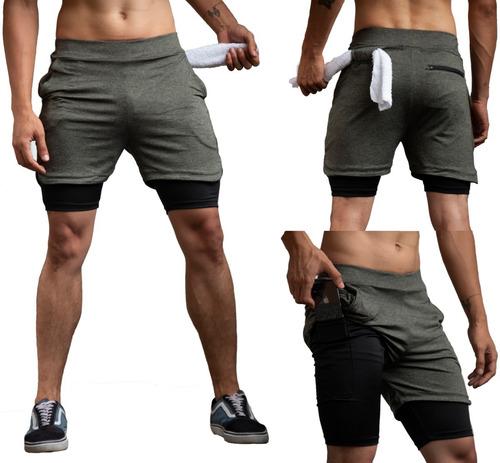Pantaloneta Con Lycra Deportiva Vino - Slim Fit