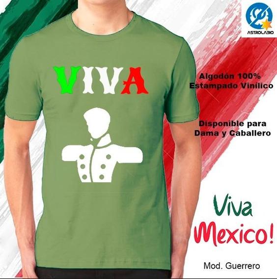 Playera Viva México 15 Septiembre Independencia Guerrero