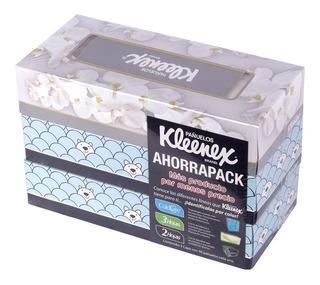 Pañuelos Desechables Kleenex Ahorrapack 3 Pzas 90 Pzas C/u