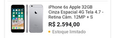 Iphone 6s Apple 32gb