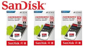 Kit 3 Micro Sd 16gb 32gb 64gb Sandisk C10 A1 100mb/s