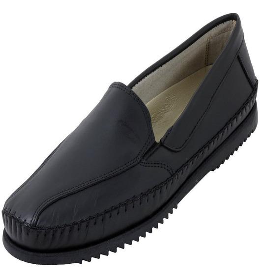 Sapato Sapatilha Masculino Em Couro Café Tran Bertoni