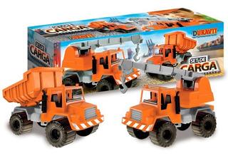 Camiones Duravit X2 - Set De Cargas (grua + Volcador)