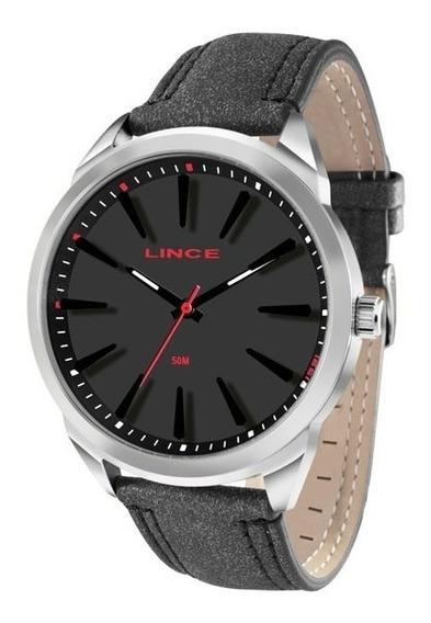 Relógio Lince Masculino Aço Pulseira De Couro Mrc4384s P1px