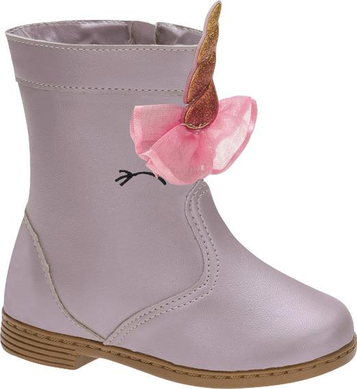 Bota Montaria Pink Infantil Menina Unicórnio 396579