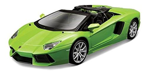 Carro Para Niños Color Verde Modelo Lamborghini Aventador