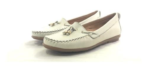 Mocasines Zapatos Mujer Dama Cuero Cómodos Alita 9001