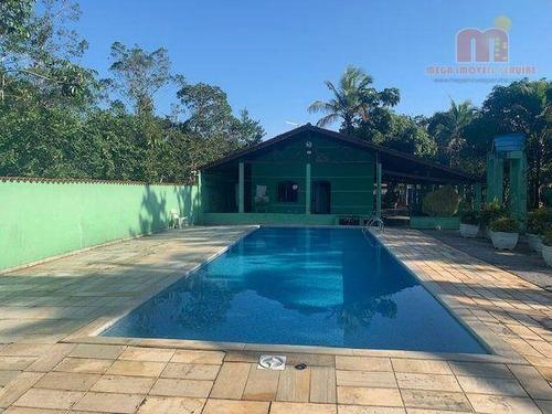 Imagem 1 de 30 de Chácara Com 3 Dormitórios À Venda, 1200 M² Por R$ 440.000,00 - Balneário Paranapuan - Itanhaém/sp - Ch0174